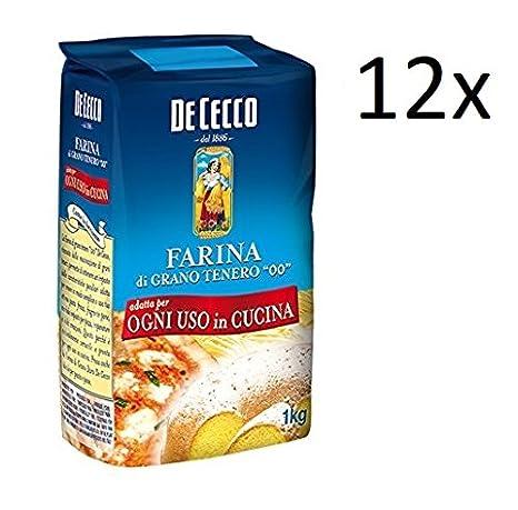 "De Cecco 12x tipo 00"" harina de trigo 1 kg tus necesidades de ..."