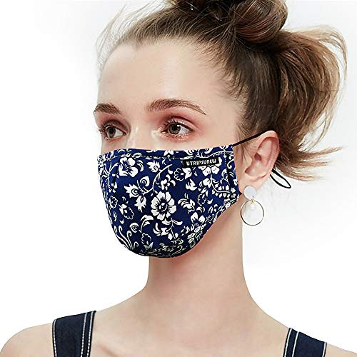 UTRIPSUNEW Anti Pollution Dust Mask Washable and Reusable PM2.5 Cotton Face Mouth Mask Protection from Flu Germ Pollen Allergy Respirator Mask