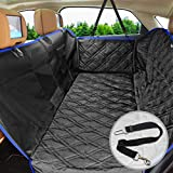 Cheap FRiEQ Dog Car Seat Covers for Back Seat of Cars/Trucks/SUV,Waterproof & Scratch Proof & Nonslip Backing & Hammock with Mesh Window, Side Flaps and Dog Seat Belt