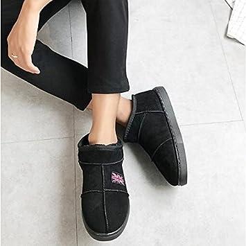 HSXZ Zapatos de mujer tejido de poliamida primavera otoño lanilla forro botas botas de nieve plana/tobillo botines botas para Casual caqui Café Rosa: ...