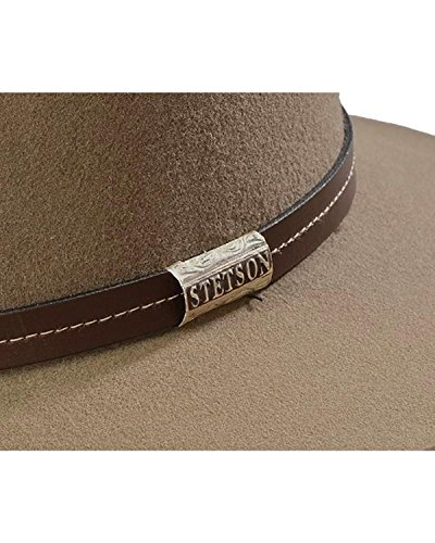 8f8a899c0 Stetson Men's 4X Silver Mine Buffalo Felt Cowboy Hat Stone 7 - Buy ...