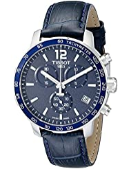 Tissot Mens T0954171604700 Quickster Stainless Steel Watch With Blue Synthetic Band