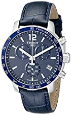 Tissot Men's T0954171604700 Quickster Stainless Steel Watch With Blue Synthetic Band