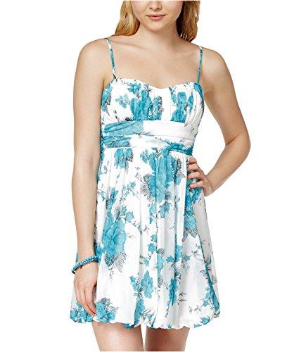 Print Bubble Hem Dress - 4