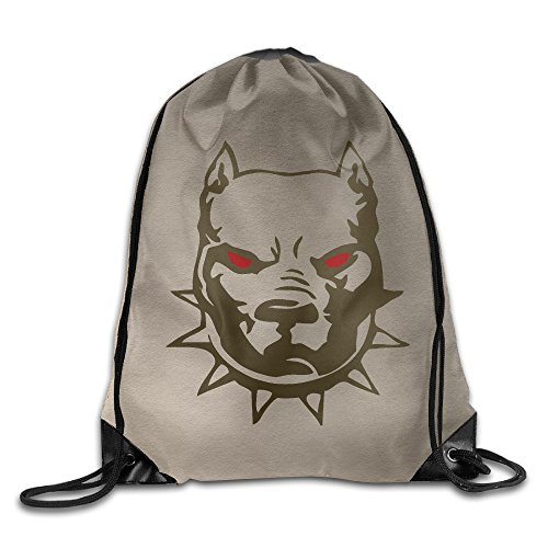 SAXON13 Unisex Playful American Bully Drawstring Backpack - Deathwing Costume