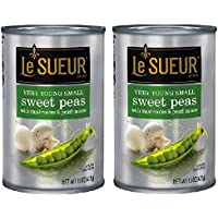Le Sueur Young Small Peas with Mushrooms & Pearl Onions (2 Pack) 15 oz Cans