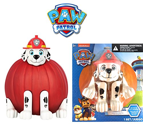 HALLOWEEN SET - 5 PCS - MARSHALL PUMPKIN PUSH-INS - PAW PATROL