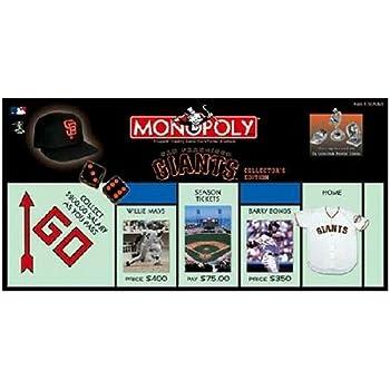 USAopoly San Francisco Giants Baseball Collectors Edition Monopoly Board Game