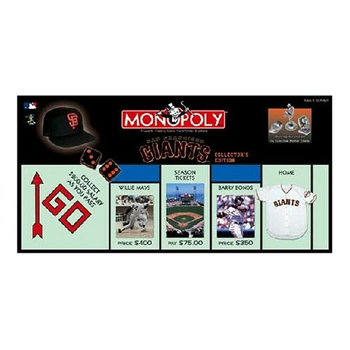 USAopoly San Francisco Giants Baseball Collector's Edition Monopoly Board Game