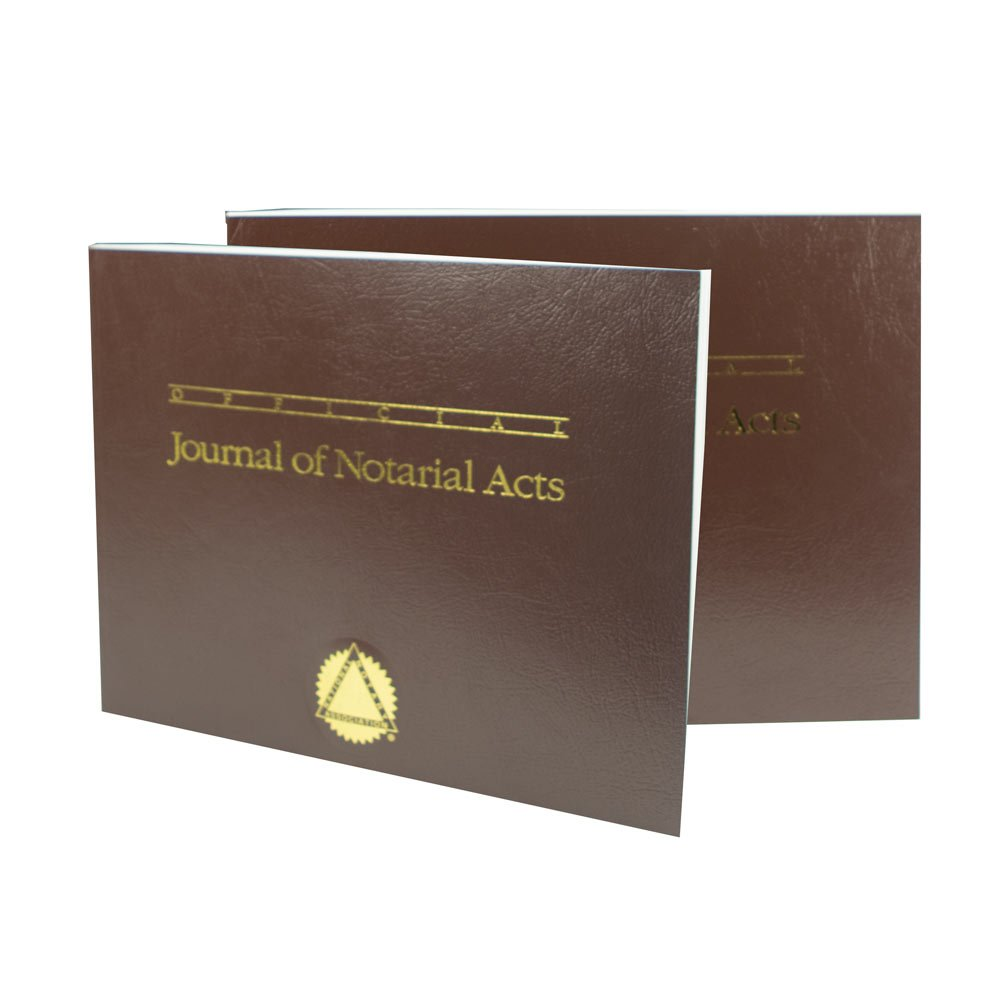 Journal of Notarial Acts (Brown Softcover)