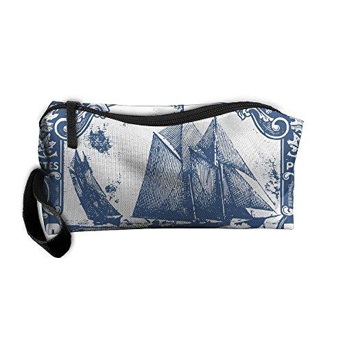 (EWSDa Clipart Bluenose Canadian Stamp Cosmetic Bag Unisex Multifunctional Receiving Bag)