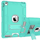 iPad 2 Case, iPad 3 Case, iPad 4 Case, BENTOBEN Heavy Duty Shockproof Kickstand Anti-slip 3 in 1 Full-body Rugged Soft Rubber Hard PC Protective Case for iPad 2 / 3 / 4 9.7 inch, Mint Green/Light Gray