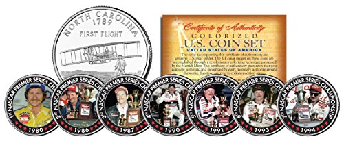 Dale Earnhardt *7-Time Champion* North Carolina Quarters 7-Coin Set Winston Cup