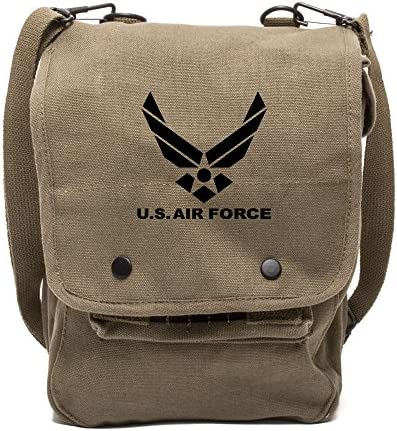 Tactical Overlord US Air Force Canvas Crossbody Travel Map Bag Case