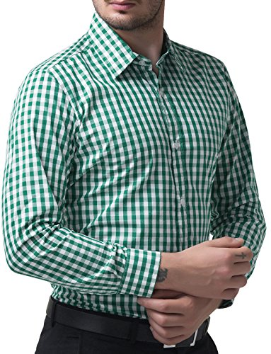 Green Fit JONES Casual Men's Long Shirt PAUL Sleeve Slim Shirt azqwn