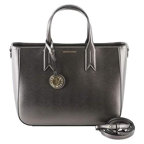 Acciaio Emporio yh15a Donna Primavera estate nero Shopping Bag Y3d082 Armani 87vrq8H