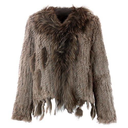 Veste pour femme en fourrure manteau veste en fourrure de lapin fourrure de lapin diffrentes couleurs nr 2 - Kaki