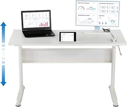 Height Adjustable Desk Standing Desk Converter Workstation Desk,Simple Stand Up Desk Sit-Stand Desk Supports 2 Monitors