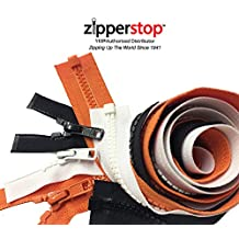 ZipperStop Distributor YKK® -Zipper Assortments Halloween YKK® #5 Molded Plastic Separating for Jacket 3 Colors Black, White and Orange Made in USA (Length 30 Inches)