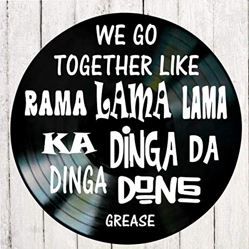 We Go Together song lyrics from the musical Grease on a Vinyl Record Album Wall Art]()