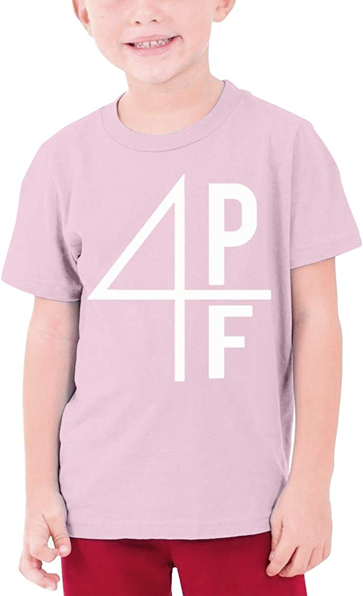 Teens Short Sleeve T-Shirt Lil Baby Official 4PF Original Minimalist Style Pink