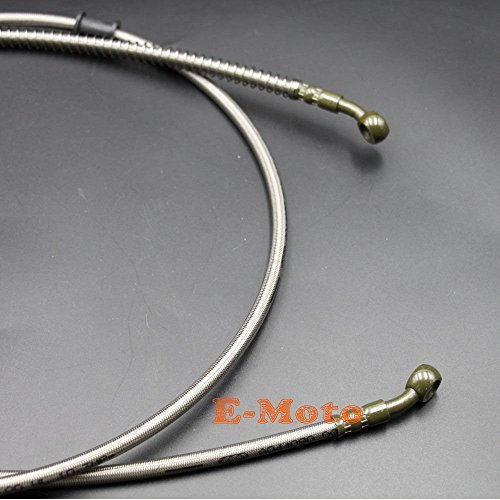 Steel Braided Brake Lines Go Kart : Quot braided hydraulic brake hose line chinese gy scooter