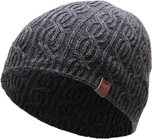 Acrylic Short Beanie (KBETHOS KBW-266 DGY Soft Winter Cable Knit Beanie Short Skull Cap Ski Warm Hat)