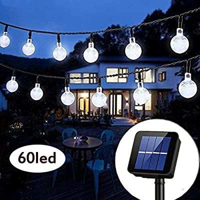 Solar String Lights Waterproof LED Fairy Lights 8 Modes Outdoor Starry Lights Solar Powered String Light for Garden Yard Home Party Wedding Decoration