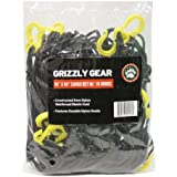 """Cargo Net with 16 Durable Nylon Hooks - Large 36"""" x 60""""- Stretches to 60"""" x 90"""" by Grizzly Gear"""