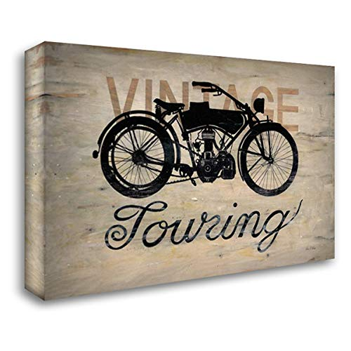 (Vintage Touring Bike 40x28 Gallery Wrapped Stretched Canvas Art by Fisk, Arnie)