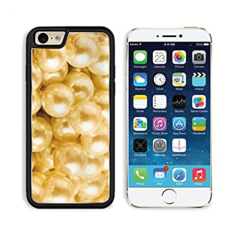 Apple iPhone 6 6S Aluminum Case Heap of pearl in warm colour in closeup IMAGE 35040302 by MSD Customized Premium Deluxe Pu Leather generation Accessories HD Wifi Luxury - Deluxe Personal Warmer