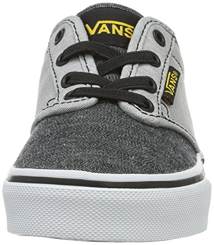 Vans VansYt Atwood Slip-On - Zapatillas Para Chico Gris (Chambray Black/gray)