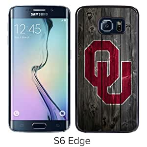 Beautiful And Unique Designed Case For Samsung Galaxy S6 Edge With NCAA Big 12 Conference Big12 Football Oklahoma Sooners 6 Black Phone Case