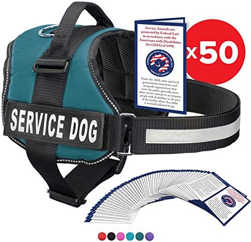 Industrial Puppy Service Dog Vest with Hook and Loop Straps and Handle - Harness is Available in 8 Sizes from XXXS to XXL - Service Dog Harness Features Reflective Patch and Comfortable Mesh Design