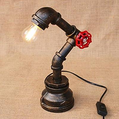 Vintage Industrial lámpara de mesa Steampunk mesa de luz SYAODU ...