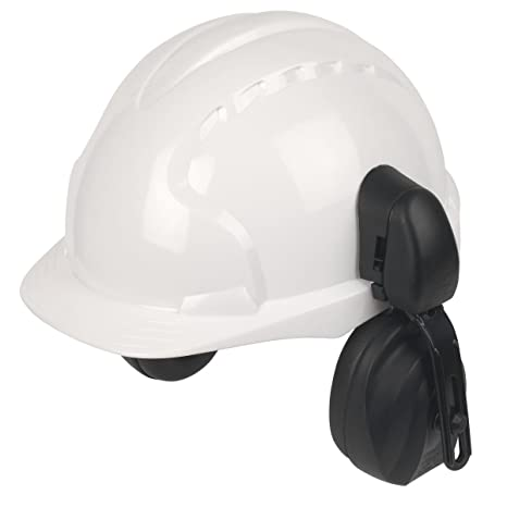 JSP EVO3 Comfort Plus ajustable casco con protectores auditivos blanco