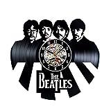 Cheap Handmade Vintage Vinyl Record Beatles Theme Wall Clock