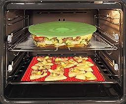 Petrista Pan Non Stick Fat Reducing Silicone Cooking Mat Oven Baking Tray Sheet Mats Kitchen Pads