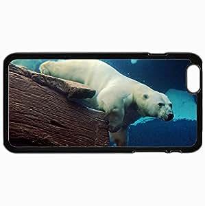 Fashion Unique Design Protective Cellphone Back Cover Case For iPhone 6 Plus Case Bear Polar Bear Bear Under Water Sea Black