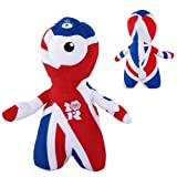 Genuine London 2012 Olympics Game OFFICIAL Wenlock 25cm Union Jack Plush Toy