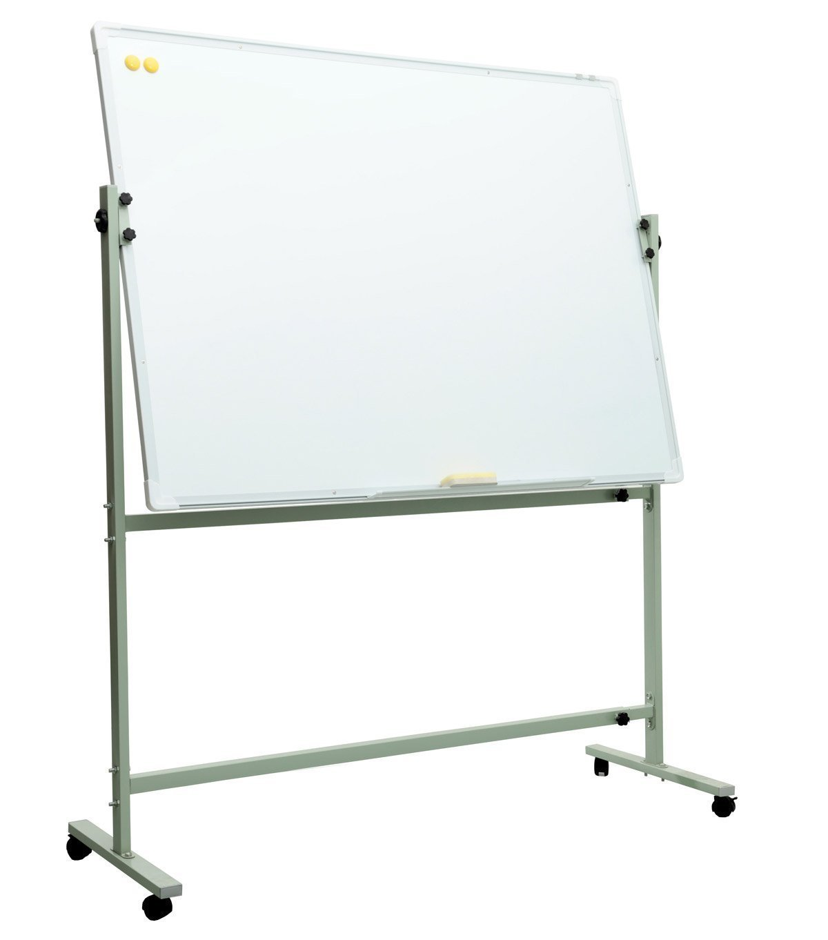 Magnetic Dry Erase Whiteboard with Stand Includes One Removable Pen Tray, Two Pens and Two Magnetic Nails for Office School Presentation(4836)