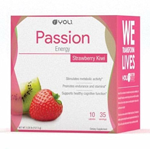 Yoli Passion Energy Drink – Sugar Free – Sweetwened with Stevia – Long Lasting Healthy Energy Without Jitters (Box, Kiwi Strawberry) For Sale