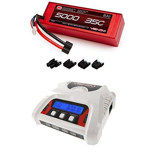 Venom 35C 3S 5000mAh 11.1 LiPo Hardcase Battery with Universal Plug and Venom 2-4 Cell AC/DC LiPo Battery Balance Charger Money Saving Combo by Venom RC
