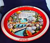 """World's Fair Knoxville, Tennessee Souvenir Coca-cola Tray 1982 12"""" Diameter offers"""