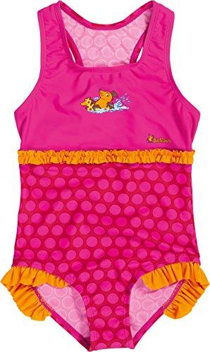 Playshoes Mädchen Einteiler Badeanzug DIE MAUS Punkte mit UV - Schutz, Gr. 98 (Herstellergröße: 98/104), Rosa (original 900)