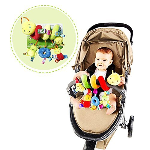 The Best Quality Baby Stroller Toy, Spiral Activity Toy Around Crib Rail, Bed Hanging Toys, Car Seat Toy with 100% Cotton and Safe for Baby by Bytoba