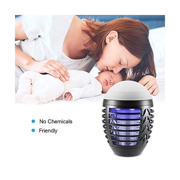ZOTO Lampada Antizanzare, Zanzariera Elettrica con Batteria Ricaricabile USB 2200mAh, IP66 Impermeabile Lanterna Zanzare… 7 spesavip