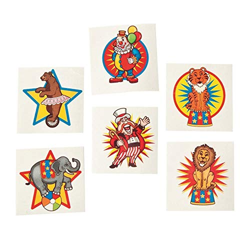 Fun Express Under The Big Top Kid's Temporary Tattoos (6 dz) -