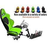 Openwheeler GEN2 Racing Wheel Stand Cockpit Green on Black | Fits All Logitech G29 | G920 | All Thrustmaster | All Fanatec Wheels