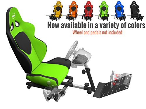 Openwheeler GEN2 Racing Wheel Stand Cockpit Green on Black | Fits All Logitech G29 | G920 | All Thrustmaster | All Fanatec - Racing Seats Forza